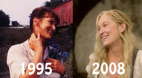Les Meryl Streep de 1995 et 2008 se regardent