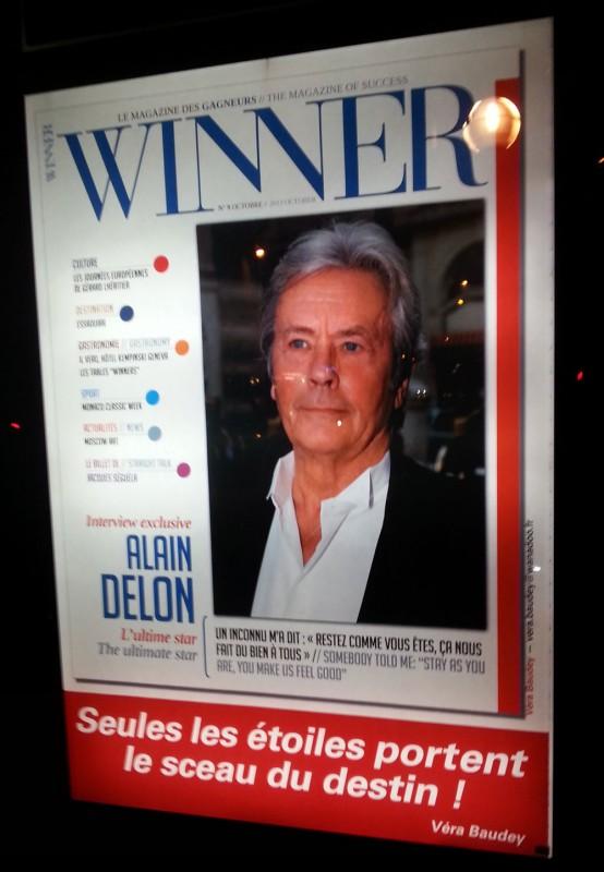 Affiche publicitaire de Winner, le magazine des gagneurs