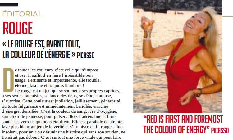 Édito de Véra Baudey : le rouge