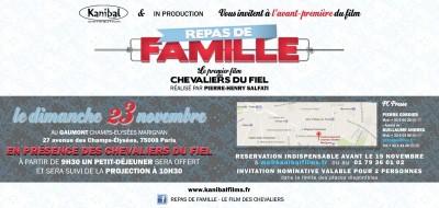 """Invitation à l'avant-première de """"Repas de Famille"""" des Chevaliers du Fiel"""